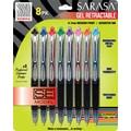 Zebra® Sarasa® SE Retractable Gel-Ink Pens, Medium Point, Assorted, 8/Pck
