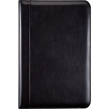 Day-Timer® Aristo Bonded Leather Starter Set, Zip Closure, Black, Desk Size