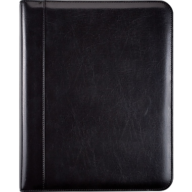 Day-Timer® Aristo Bonded Leather Starter Set, Zip Closure, Black, Folio Size