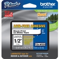 Brother® TZe-AF231 P-Touch® Label Tape, 1/2in. Black on White, Acid Free