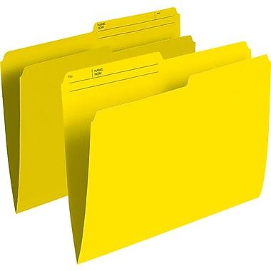 Staples® – Chemises de classement de couleur, format letter, 8 1/2 po x 11 po, jaune, paq./100