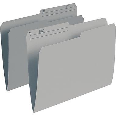 Staples® – Chemises de classement de couleur, format lettre, 8 1/2 po x 11 po, gris, paq./100