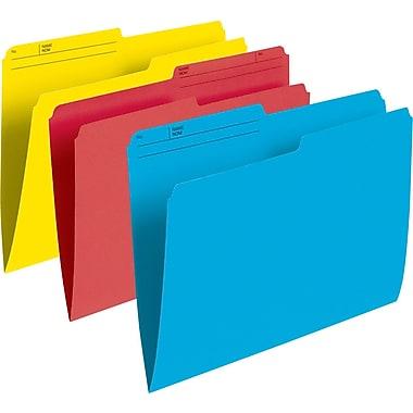 Staples® – Chemises de classement de couleur, format lettre, 8 1/2 po x 11 po, couleurs varies, paq./100