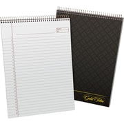 "Ampad® Gold Fibre Executive Series Top-Wirebound Notebook, 8-1/2"" x 11-3/4"", Planner Rule, Gray, 70 Sheets (20813)"