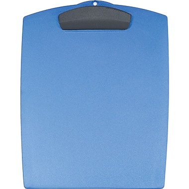Storex Clip & Carry Clipboard, Blueberry