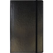 "C.R. Gibson Genuine European Bonded Leather Journal, Black, 5-1/4"" x 8"""