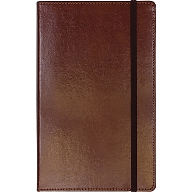 C.R. Gibson Genuine European Bonded Leather Journal, Brown, 5-1/4in. x 8in.
