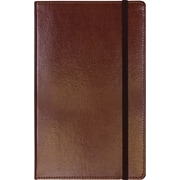 "C.R. Gibson Genuine European Bonded Leather Journal, Brown, 5-1/4"" x 8"""