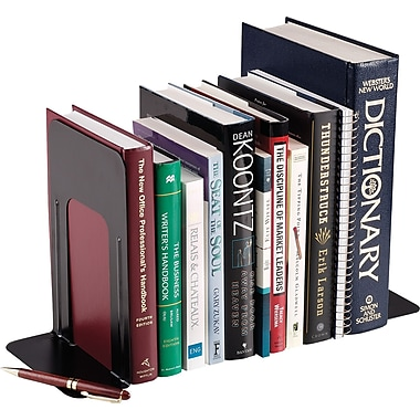 SteelMaster® Non-Slip Bookends, Black, 9
