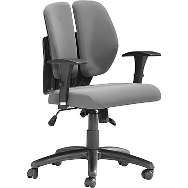 Zuo Aqua Mesh Managers Chair, Grey