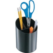 Staples Black Plastic Desk Collection (Recycled) Big Pencil Cup (DPS03574)