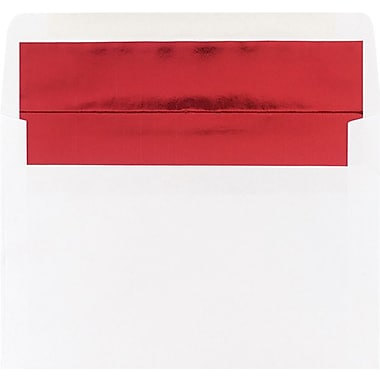 Great Papers Red Foil Lined White Envelope