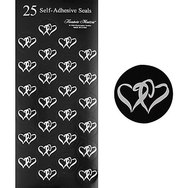 Black & Silver Double Hearts Seals