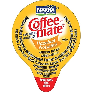Nestlé® Coffee-mate® Coffee Whitener Singles, Hazelnut, 180/Box