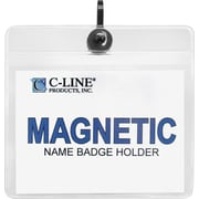 "C-Line Name Badge Holder Kits, Magnetic, Top Load, 3"" x 4"", 20/Bx"