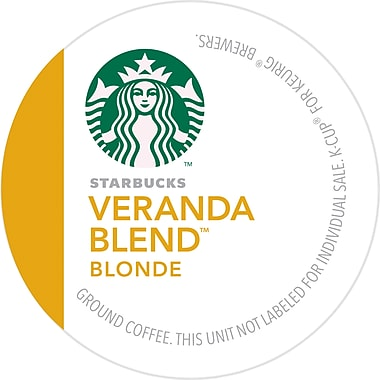 Keurig K-Cup Starbucks Veranda Blend Coffee, Regular, 24/Pack