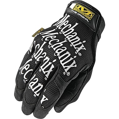 Mechanix Wear® Original® High Dexterity Gloves, Spandex/Synthetic, Hook & Loop Cuff, Large, Black
