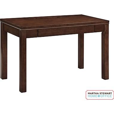 martha stewart home office blair desk walnut brown