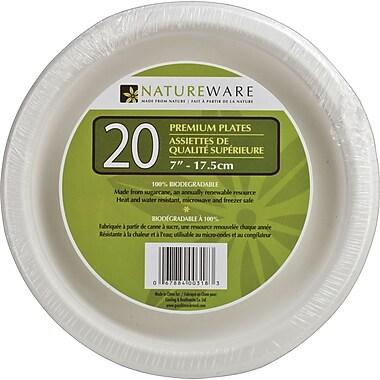 Natureware - Assiettes en papier de 7 po, paq./20