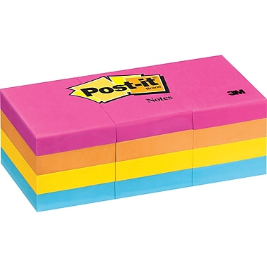 Post-it® 1-1/2in. x 2in. Neon Notes, 12/Pack