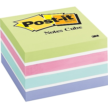 Post-it® 3in. x 3in. Sweet Pea Designer Memo Cube, Each