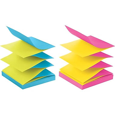 Post-it® 3in. x 3in. Alternating Ultra Colors Pop-Up Notes, 12/Pack