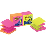 Post-it® 3 x 3 Alternating Neon Pop-Up Notes, 12 Pads/Pack