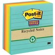 Post-it® Super Sticky 4in. x 4in. Line-Ruled Recycled Farmers Market Notes, 6 Pads/Pack