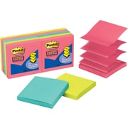 Post-it® Super Sticky 3 x 3 Jewel Pop Pop-Up Notes, 10 Pads/Pack