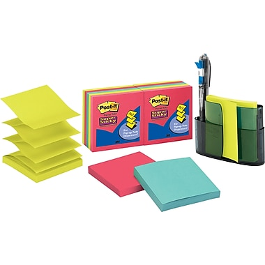Post-it® 3in. x 3in. Top-Loading Pop-Up Dispenser Value Pack