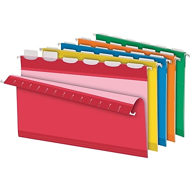 Pendaflex® Ready-Tab® Reinforced Hanging Folders, 6-Tab, Legal, Assorted, 25/Box (42593)