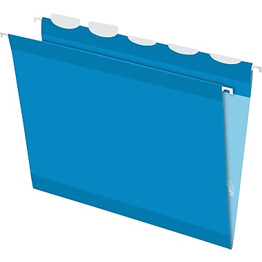 Pendaflex® Ready-Tab® Reinforced Hanging Folders, 5-Tab, Letter, Blue, 25/Box (42622)