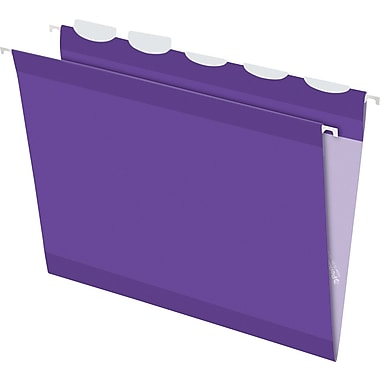 Pendaflex® Ready-Tab® Reinforced Hanging Folders, 5-Tab, Letter, Violet, 25/Box (42625)