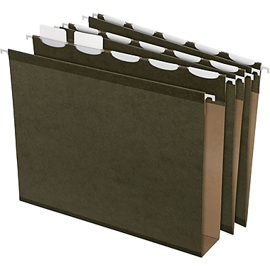 Pendaflex® Ready-Tab Box-Bottom Hanging File Folders, Letter, 2in. Capacity, Green, 20/Box