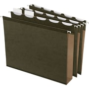 Pendaflex® Ready-Tab® Box-Bottom Hanging File Folders, Letter, 2 Capacity, Green, 20/Box