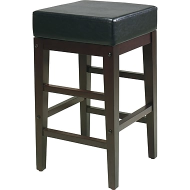 OSP Designs Metro Faux Leather 24in. Bar Stool, Espresso