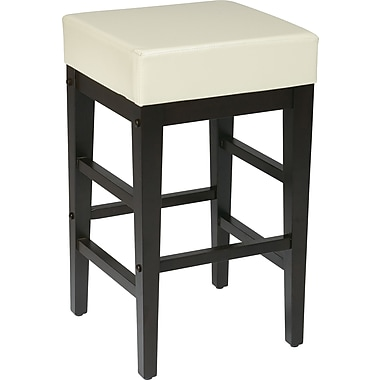OSP Designs Metro Faux Leather 24in. Bar Stool, Cream