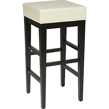 OSP Designs® Metro Faux Leather 30in. Bar Stool, Cream