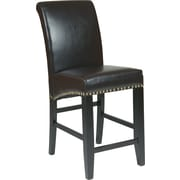 OSP Designs® Metro Bonded Leather 24 Parsons Stool w/ Nail Heads, Espresso