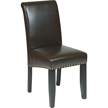 OSP Designs Metro Bonded Leather Parsons Chair w/ Nail Heads
