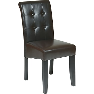 OSP Designs® Metro Bonded Leather Button Back Parsons Chair, Espresso