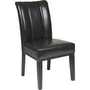 OSP Designs® Metro Bonded Leather Pleated Back Parsons Chair, Espresso