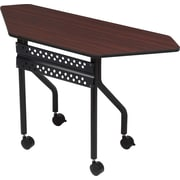 "Iceberg OfficeWorks Mobile Training Table 48"" Trapezoid, Mahogany"