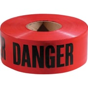 Empire® Level Safety, Danger/Barricade Tape, Red, 1000' Length, 1/Roll