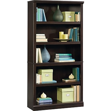 Sauder® 5-Shelf Bookcase, Jamocha Wood