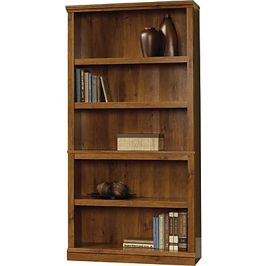 Sauder 5-Shelf Bookcase, Abbey Oak