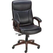 Staples Blackmore Bonded Leather  Mid-back Chair, Black
