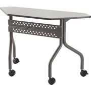 Iceberg OfficeWorks Mobile Training Table 48 Trapezoid, Gray