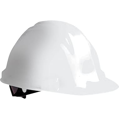 North® Peak Hard Hats, HDPE, 4 Point, White, Pin-Lock