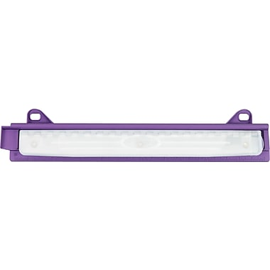 Staples® Smooth Grip 3-Hole Binder Punch, 3 Sheet Capacity, Purple